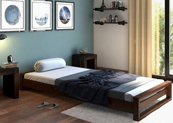 single-cot-bed-wood-steel-Chennai
